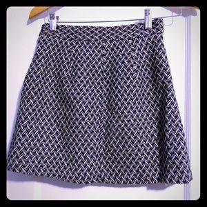 F21 wool blend lined woven design mini skirt